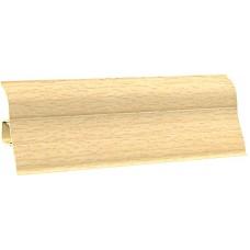 Плинтус напольный ПВХ 109 2,5м бук ясный (45), Ecoline (Эколайн)