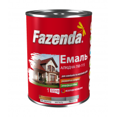 Эмаль ПФ-115 белая 0.9кг, Fazenda (Фазенда)