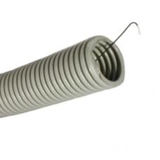 Труба гофрированная Гофра 25мм ПВХ (серая) фото