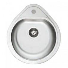 Мойка врезная круглая капля ТМ Cristal 7115 Polish (500х440х180), ТМ Cristal (Кристал)