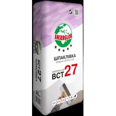 Шпаклевка финишная Ансерглоб БСТ 27 (Anserglob BСТ-27) серая (0,5-4мм) 20 кг