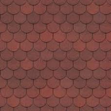 Битумная черепица PIE SIMPLE Кольчуга, красный, Döcke (Дёке)