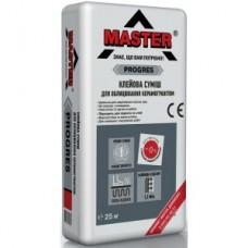 Клей высокой фиксации для керамогранита, 25 кг MASTER PROGRESS (Мастер Прогресс)