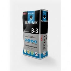 Клей для газоблока, 25кг Wallmix B-3  (Волмикс)