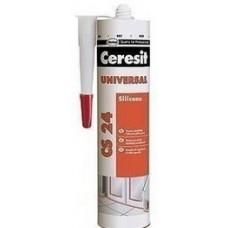 Герметик силиконовый прозрачный, 280мл Церезит CS-24  (CERESIT CS-24 )