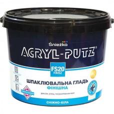 Финишная шпаклевочная гладь Sniezka Acryl-putz fs 20 finisz 17 кг белоснежная фото