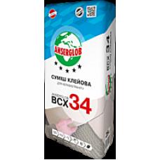 Клей для керамогранита Ансерглоб ВСХ-34 (Anserglob BCX-34), 25 кг фото