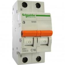 Выключатель автоматический 2П 16А Schneider (Шнайдер)